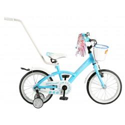 """Rowerek dziecięcy ARTPOL ROSES 16"""" niebieski+ koszyk, kółka"""